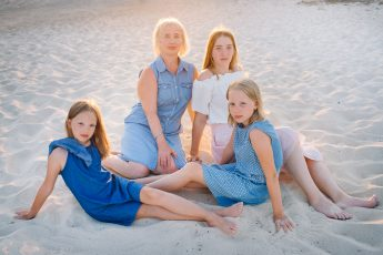 Beautiful Olga and her three daughters.